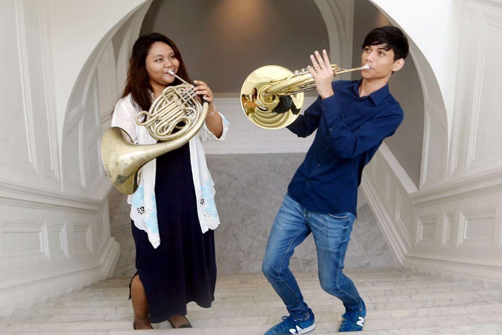 Hon Perancis dekat di hati dua pelajar muzik