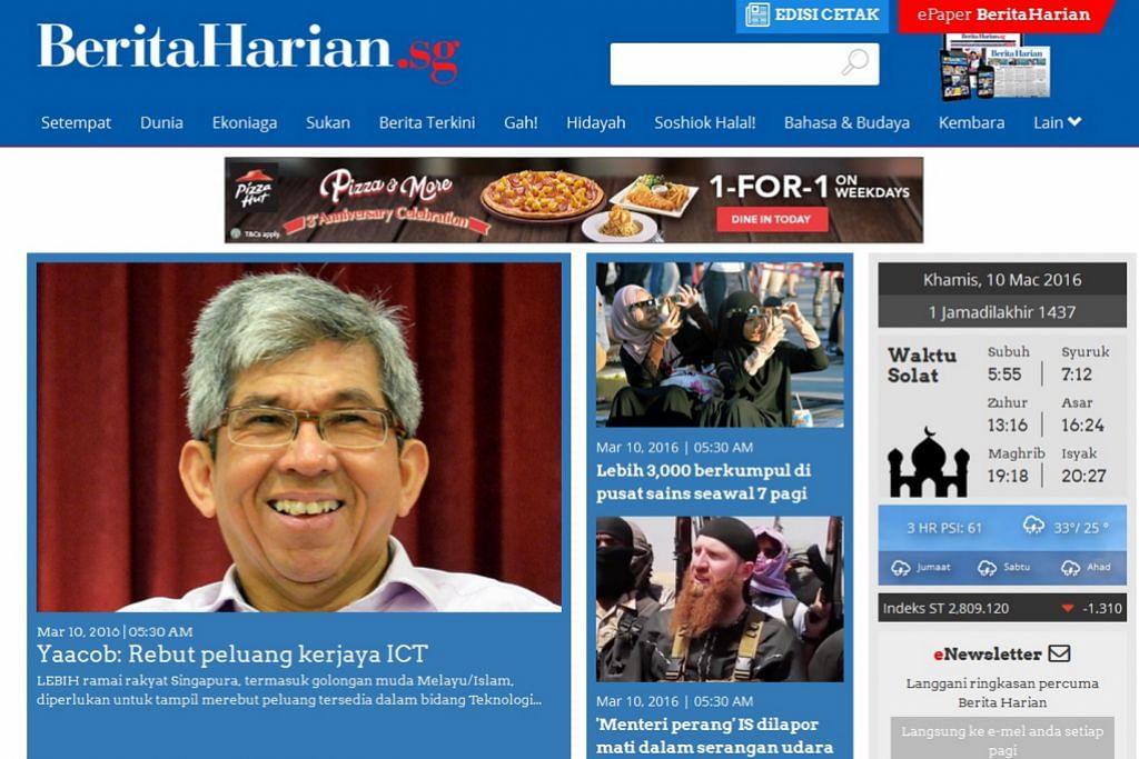 Pembaca tertarik dengan wajah baru BH.sg