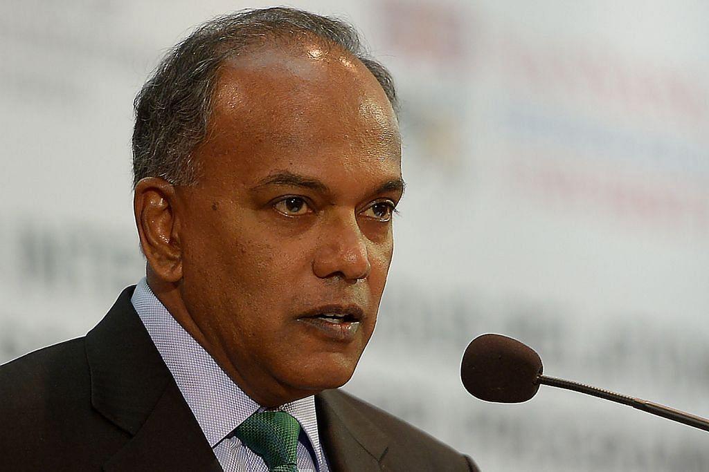Menteri Undang-Undang merangkap Menteri Ehwal Dalam Negeri Encik K. Shanmugam