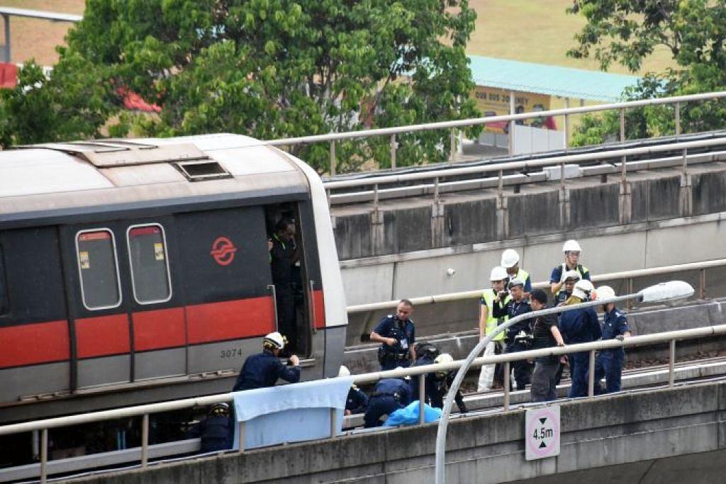 Dua staf SMRT yang maut sedang jalani latihan