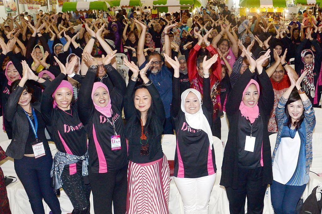 Langkah sihat kaum wanita di acara Jamiyah