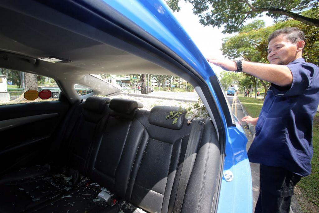 Dua cedera apabila pokok hempap dua kenderaan di Boon Lay