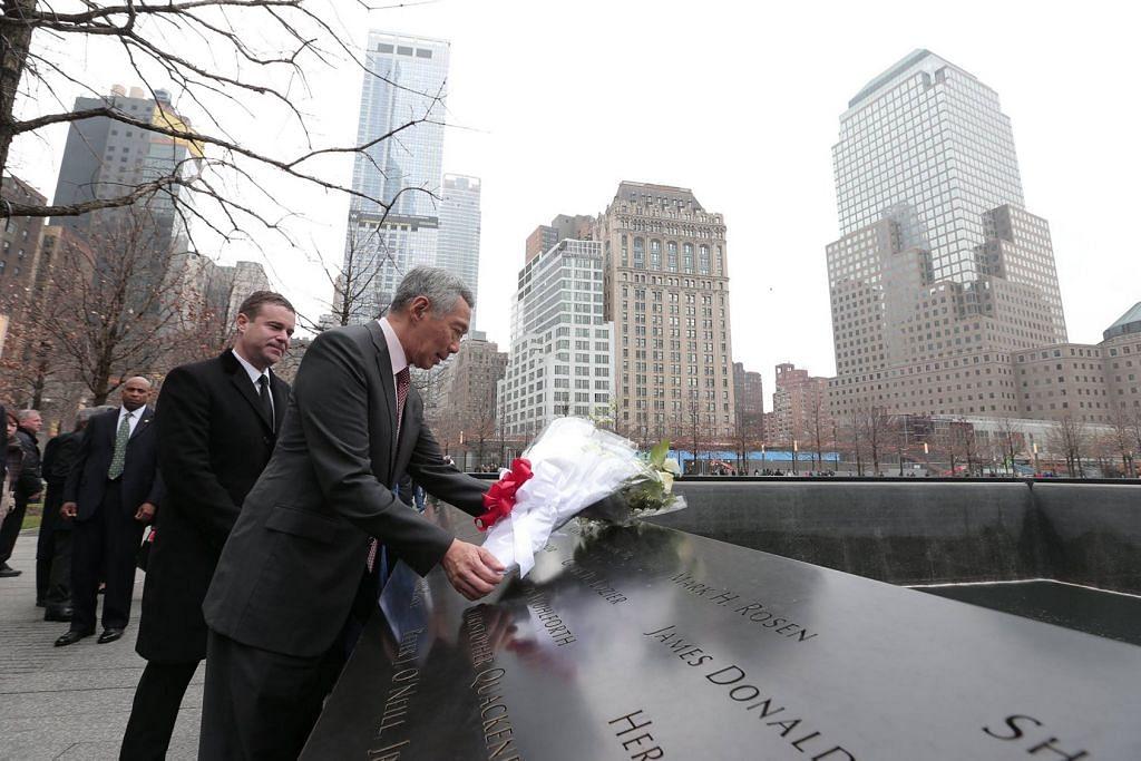 PM Lee kenang mangsa serangan 9/11 di New York