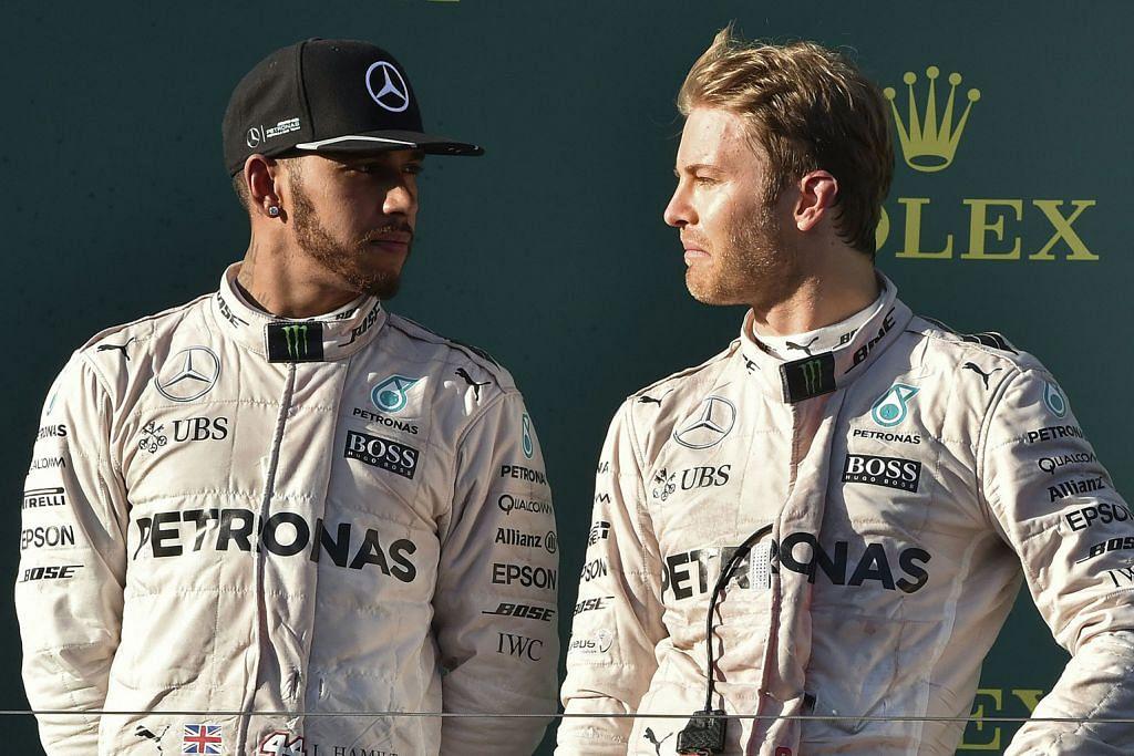 GRAND PRIX BAHRAIN Hamilton alu-alu rentap rakan sepasukan Rosberg