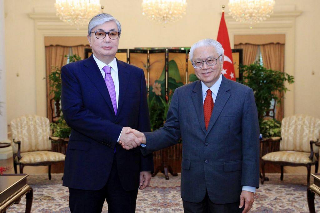 Presiden Tony Tan terima kunjungan dari Kazakhstan