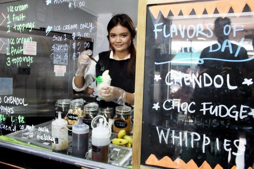 Bingsu - ais kacang Korea hilangkan dahaga