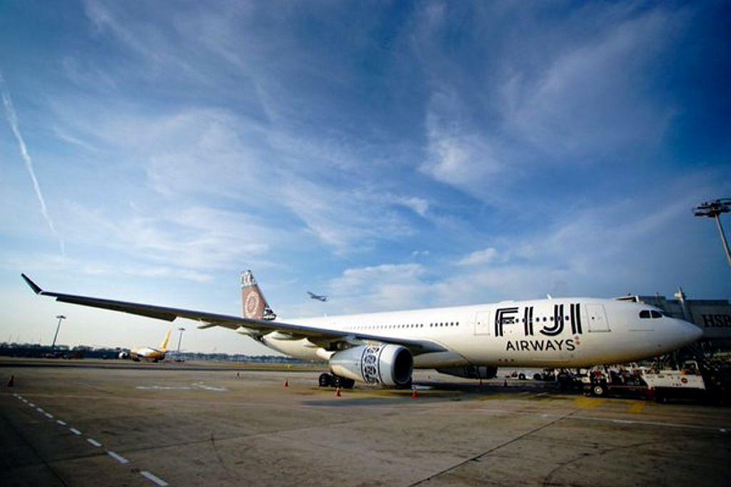 Changi sambut penerbangan sulung Fiji Airways dari Nadi