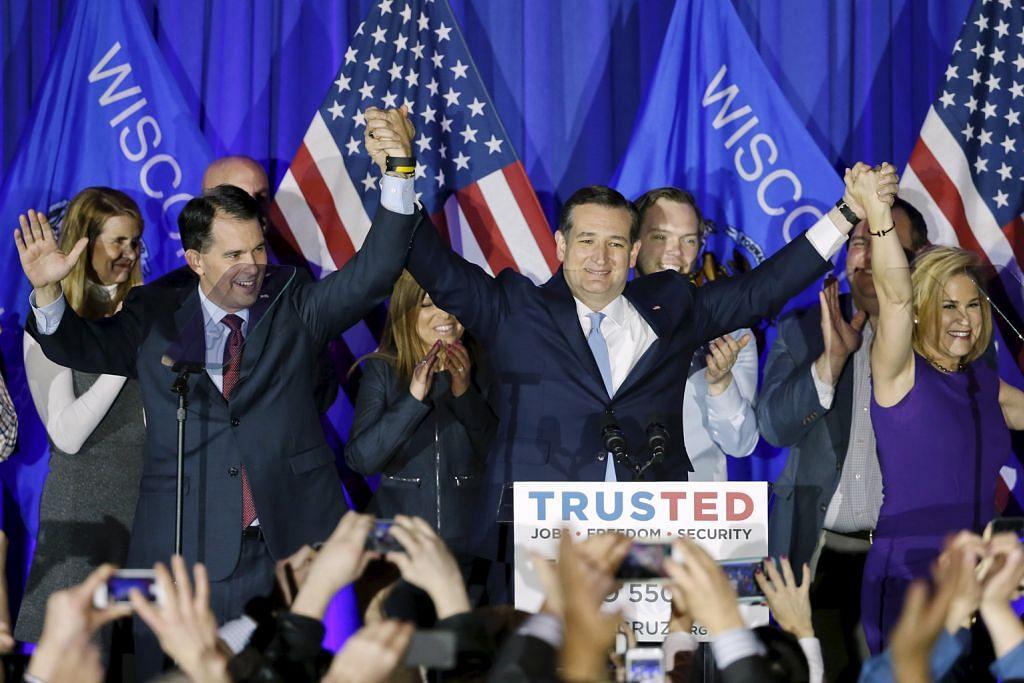Sanders, Cruz menang di Wisconsin