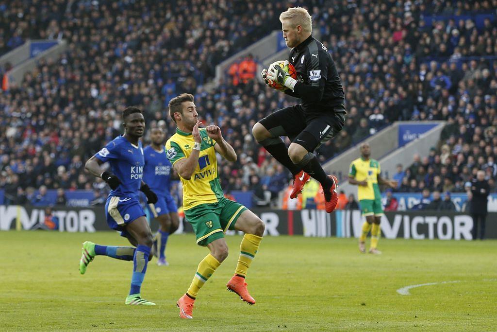 LIGA PERDANA ENGLAND Schmeichel dan pemain bek bagai 'Tembok Besar' Leicester
