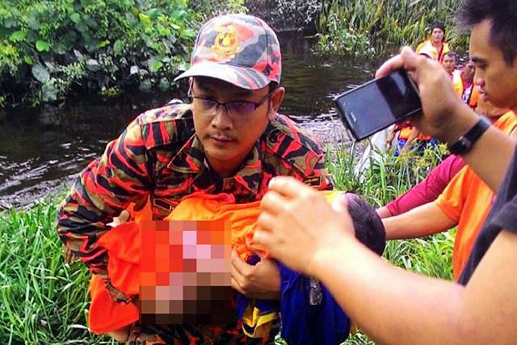 Budak disambar buaya tika mandi sungai di Sarawak