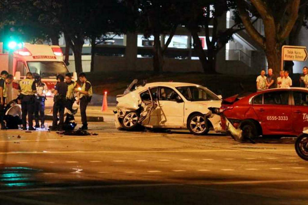 Tujuh cedera dalam nahas empat kenderaan