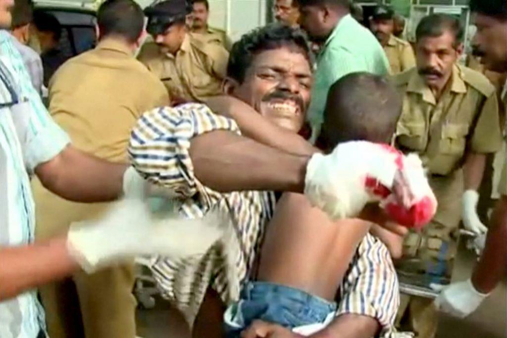 Ledakan kuil Kerala korbankan lebih 80 nyawa KEBAKARAN DI KUIL KERALA