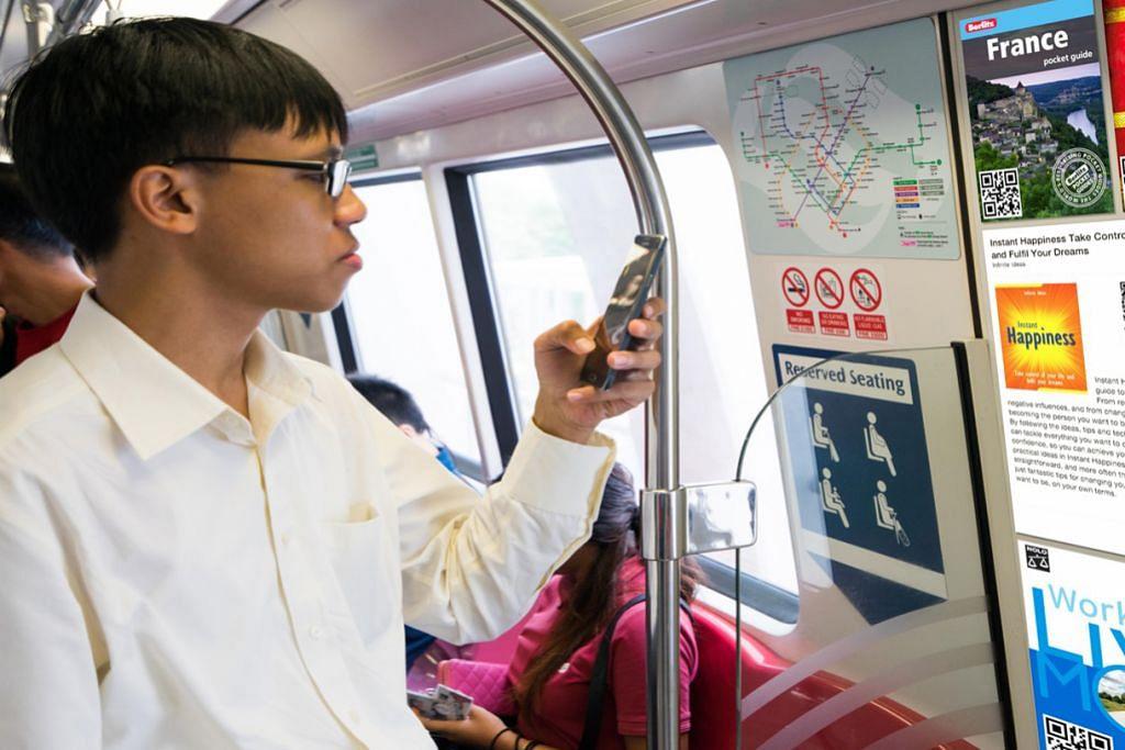 'Membawa' perpustakaan dalam kereta api MRT