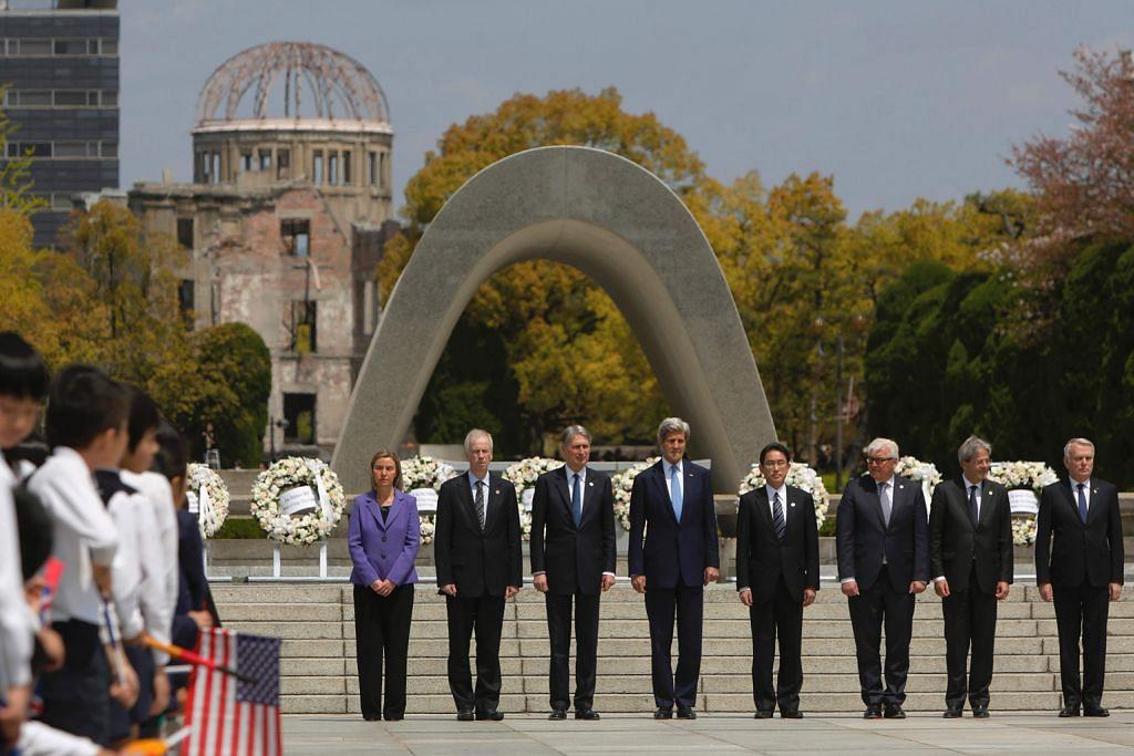 Kerry tersentuh lawat tugu peringatan bom atom di Hiroshima