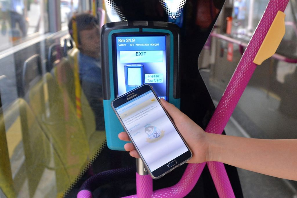 Guna telefon bimbit bayar tambang bas dan tren MRT