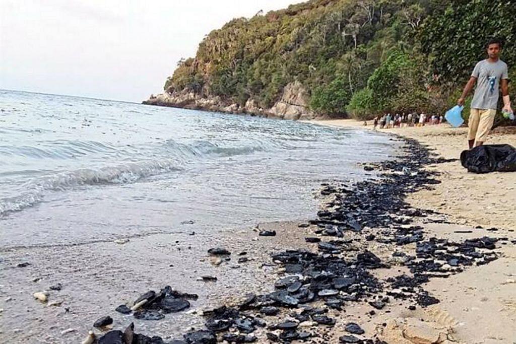 Ketulan minyak tar jadi misteri di Pulau Perhentian Besar