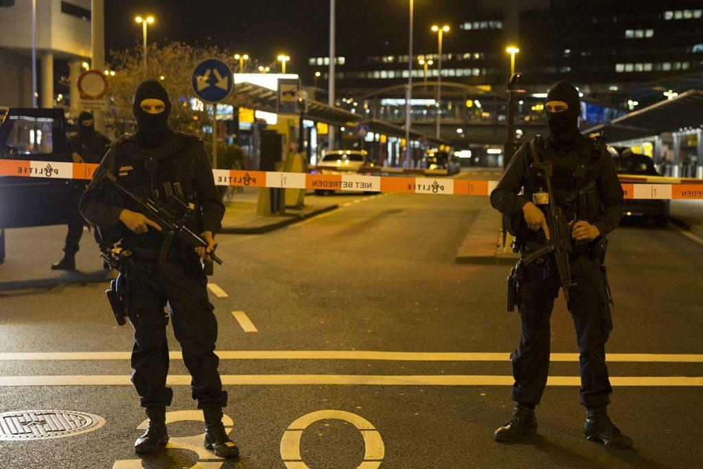 Lelaki diberkas, polis Belanda kawal lapangan terbang