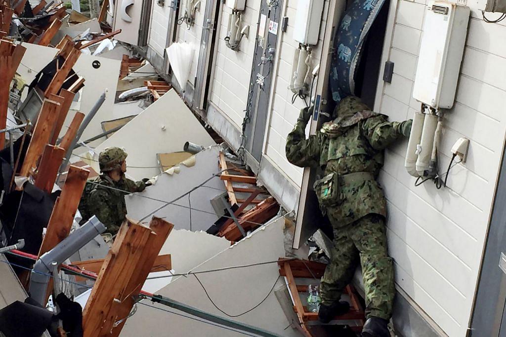 Ramai mangsa gempa di Jepun masih tertimbus