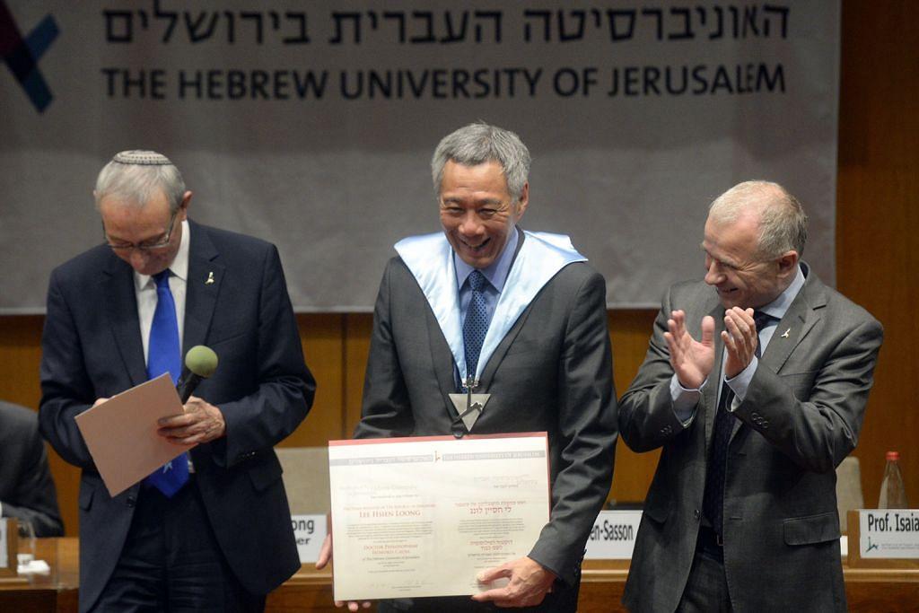 PM Lee lahir harapan Israel, jiran serantau hidup aman, makmur
