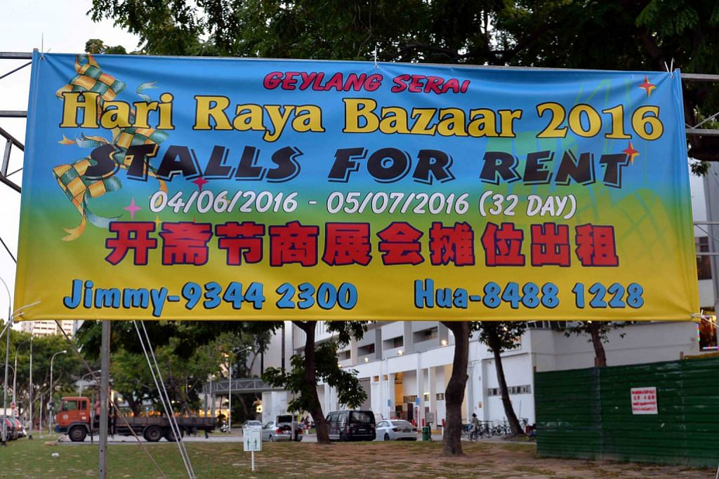 Tender bagi bazar Raya divisyen Geylang Serai ditutup