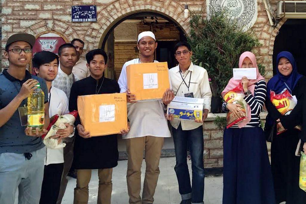 Semangat sukarelawan pelajar S'pura mekar di Mesir