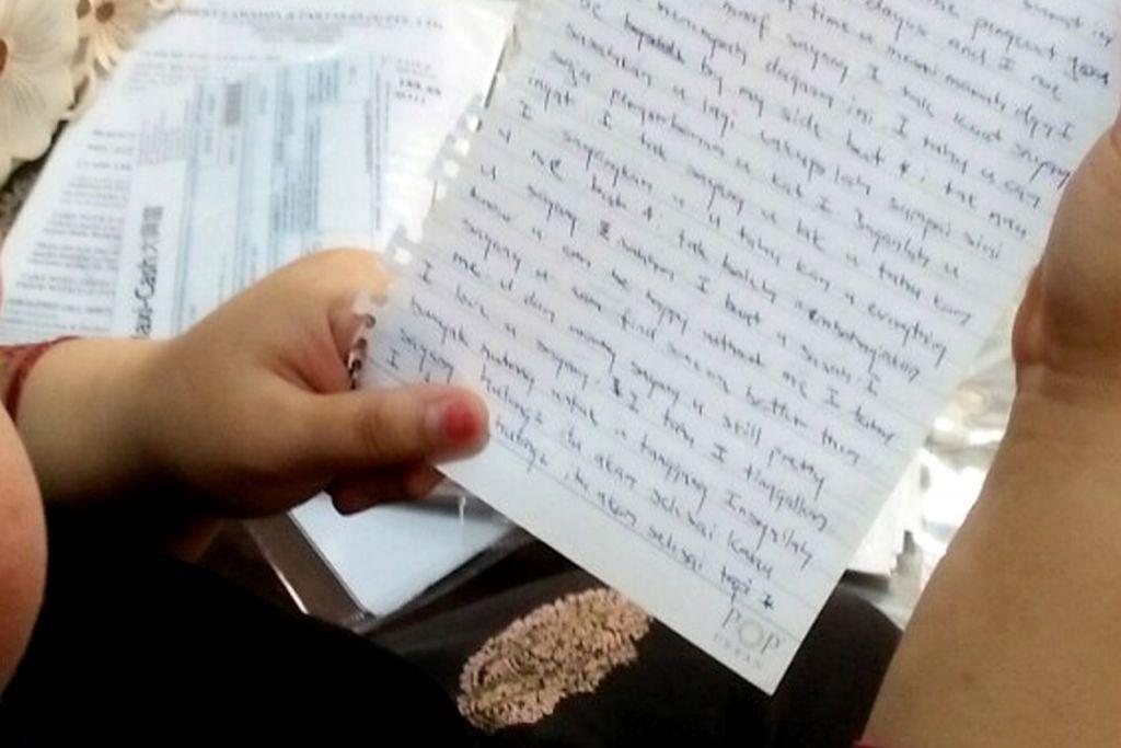 CERPEN Karya: Peter Augustine Goh BIODATA PENULIS Surat Kasih Kepada Diri