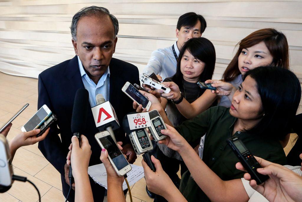 REAKSI KEPADA PENAHANAN LAPAN WARGA BANGLADESH DI BAWAH ISA Shanmugam: Ada risiko bahaya kepada S'pura