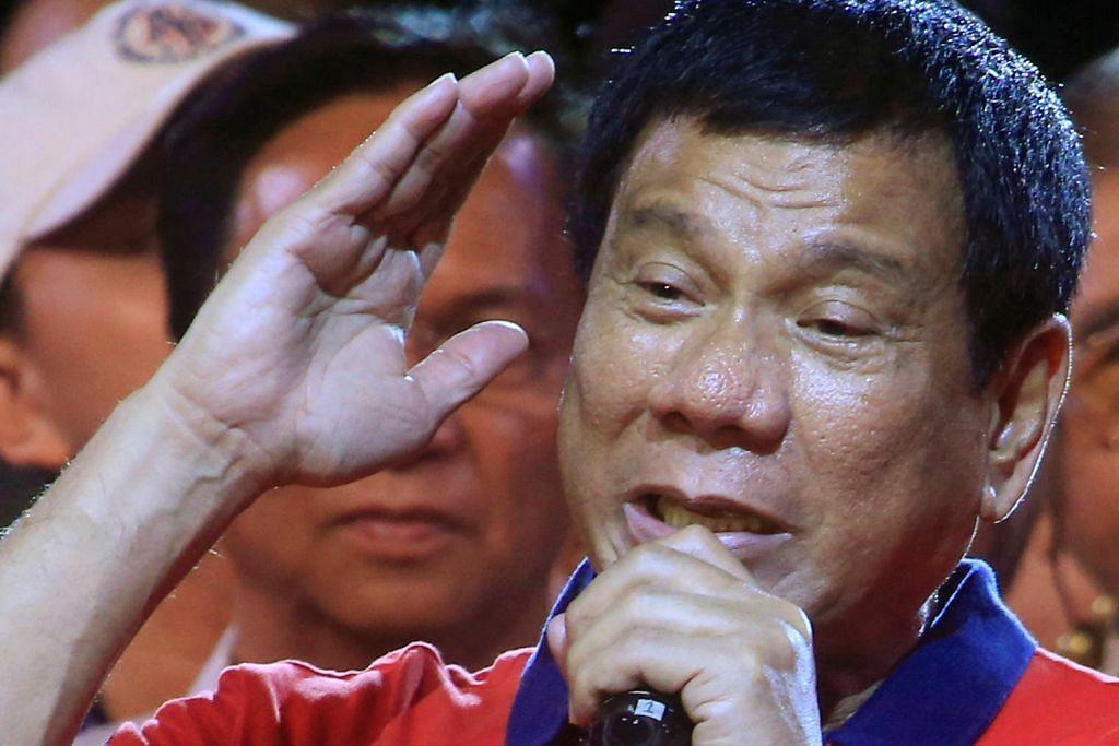 PILIHAN RAYA PRESIDEN FILIPINA PENCABAR UTAMA CALON LAIN 'Duterte Trump' dahului saingan