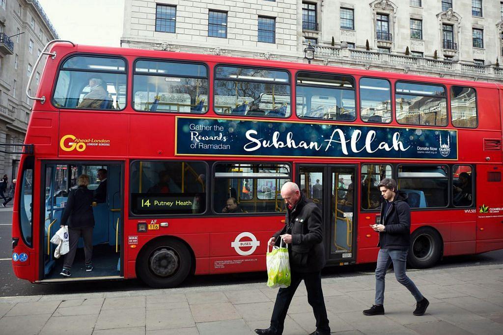 Iklan sempena Ramadan pada bas di London