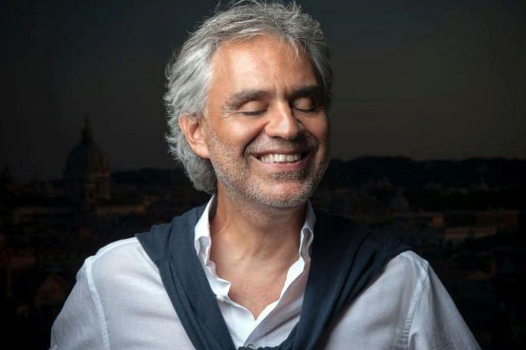 Suara tenor Andrea Bocelli dianggap terhebat