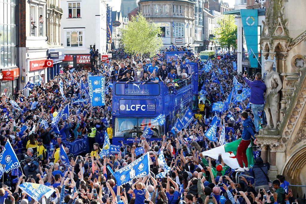Lautan biru sambut wira Leicester