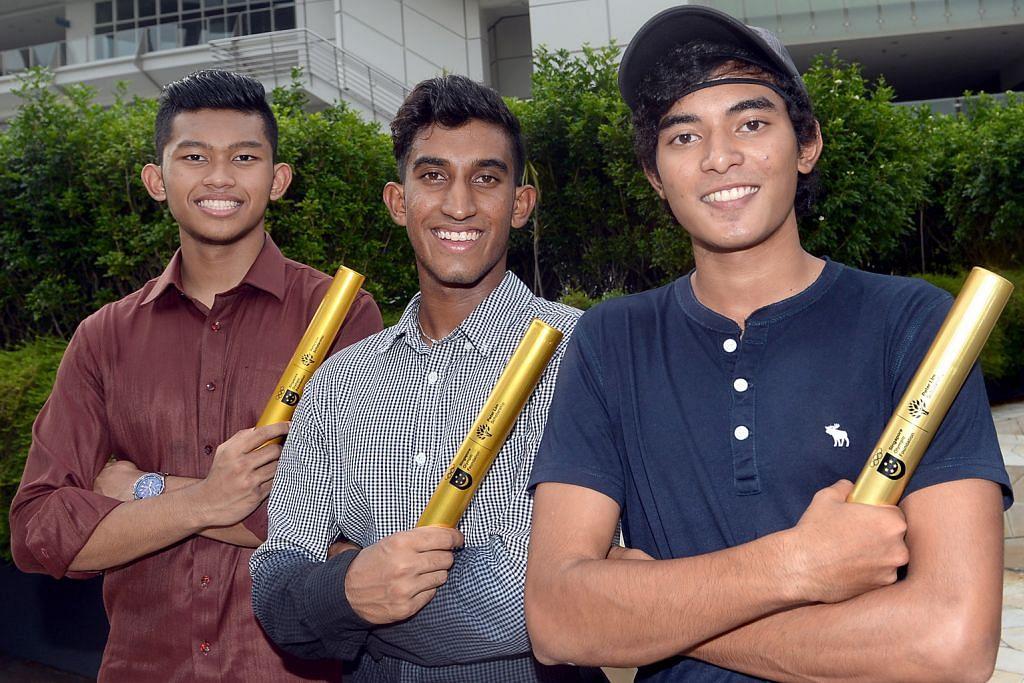 Prestasi konsisten dalam sukan tuah bagi tiga pelajar ANUGERAH BIASISWA YAYASAN OLIMPIK SINGAPURA-PETER LIM
