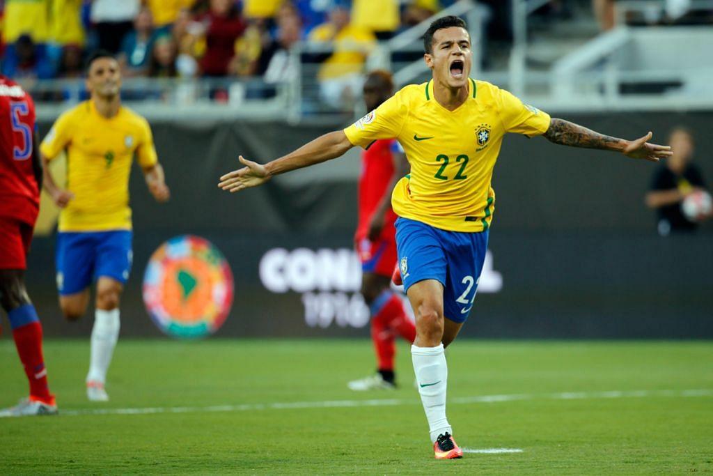 Hatrik Coutinho bantu Brazil belasah Haiti 7-1 COPA AMERIKA