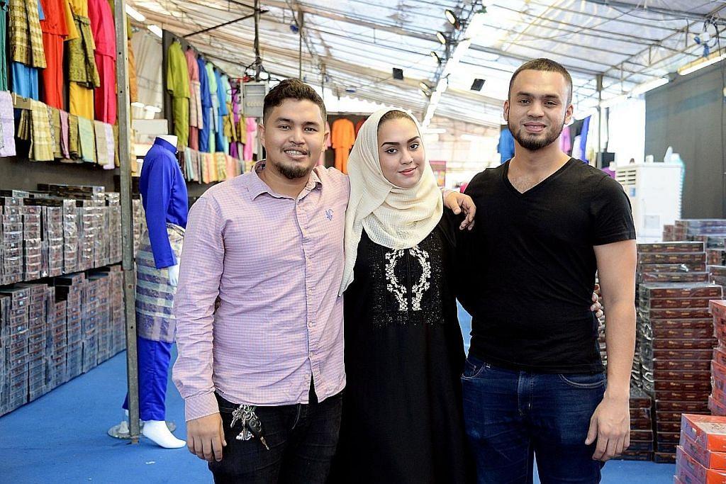 Tiga beradik muafakat urus bazar bersama