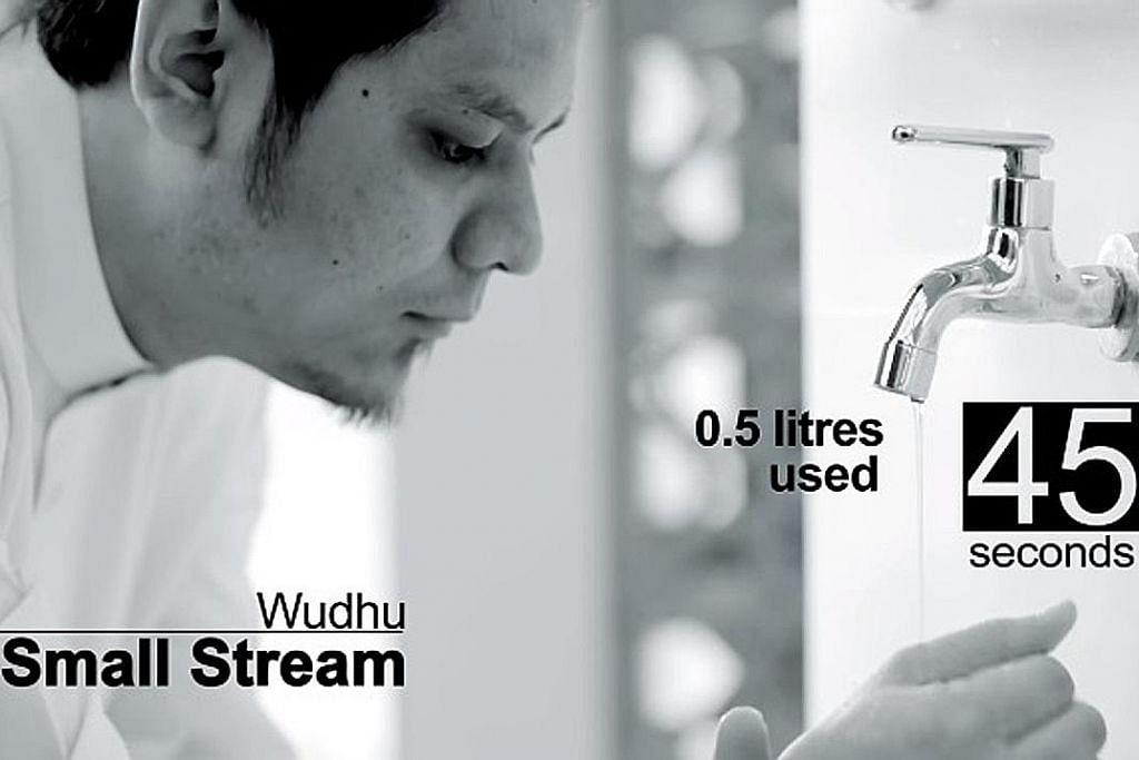 Video pendek tanpa dialog didik jemaah jimat air ketika berwuduk