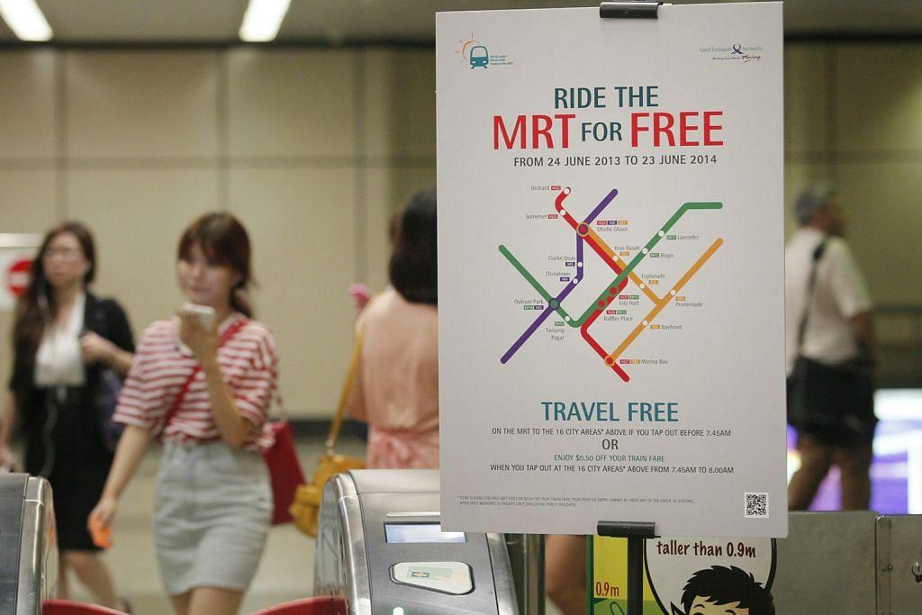 Skim naik MRT percuma waktu pagi dilanjut hingga 30 Jun tahun depan