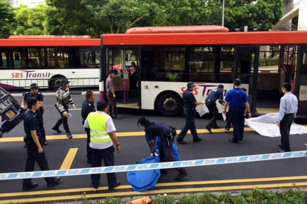 Pejalan kaki warga emas maut dilanggar bas