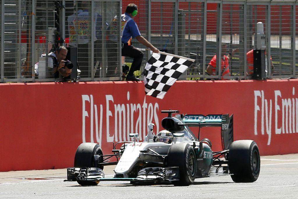 Hamilton rapati jurang jadi satu mata sahaja bawah Rosberg FORMULA SATU