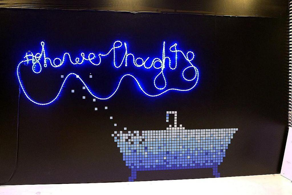 Seni lampu berilhamkan cetusan fikiran semasa mandi