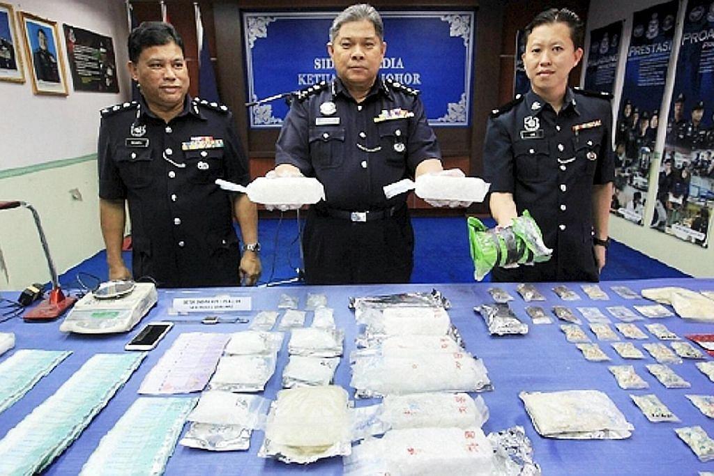 Polis temui $406,000 dadah pada warga S'pura di Johor