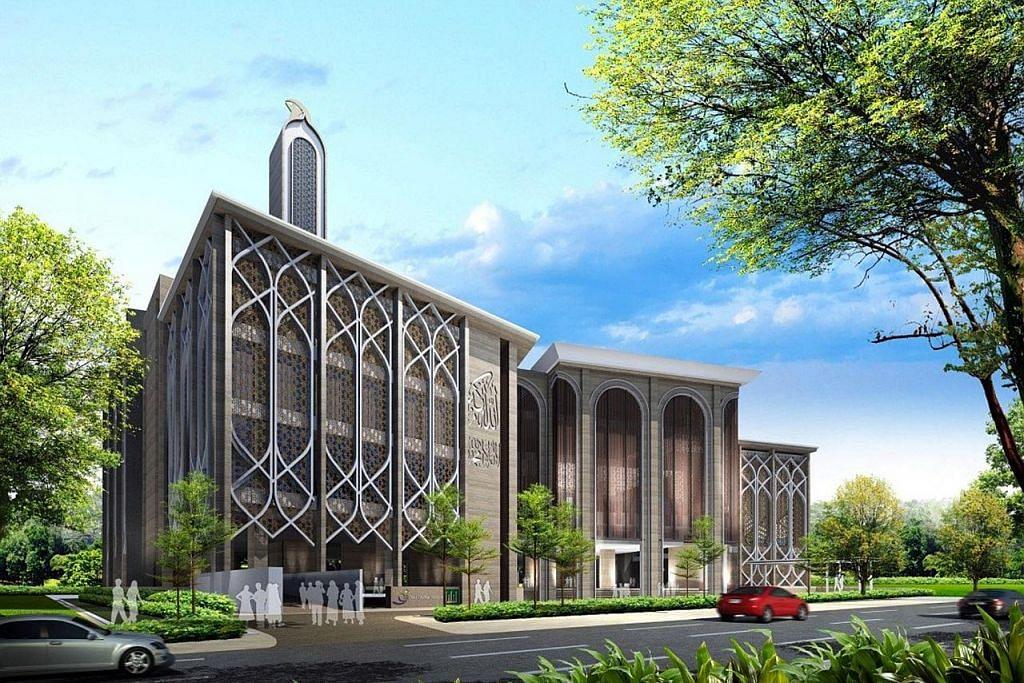Kegiatan masjid diteruskan di bangunan sementara