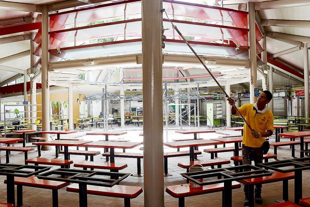 Pusat Makanan Adam Road ditutup bagi kerja pembaikan, ubah elok