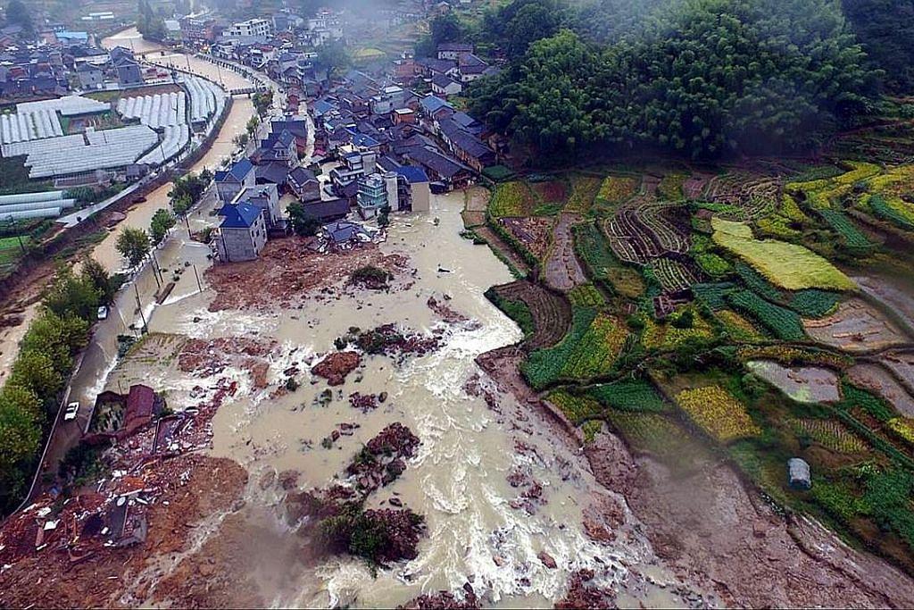 Tanah runtuh di China: Puluhan masih hilang