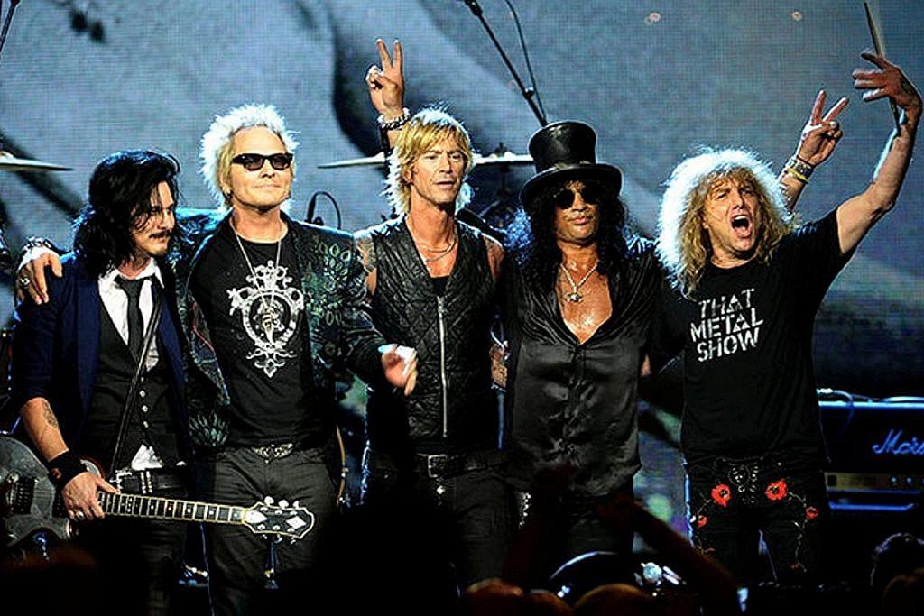 Guns N' Roses bersatu kembali di Singapura
