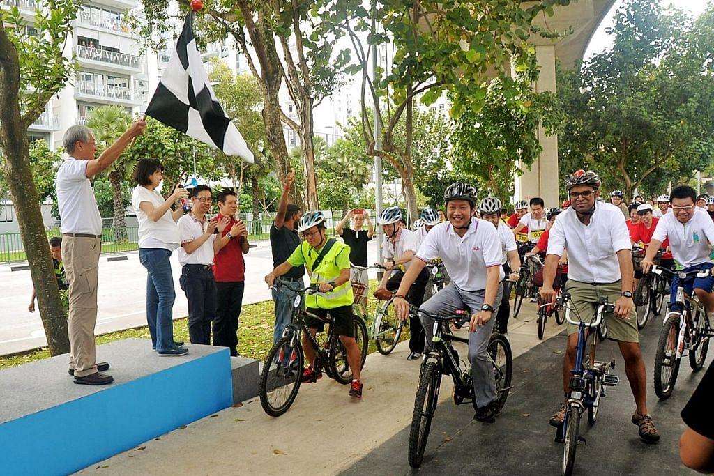 Laluan basikal 8.8km di Punggol hubungkan kemudahan bandar