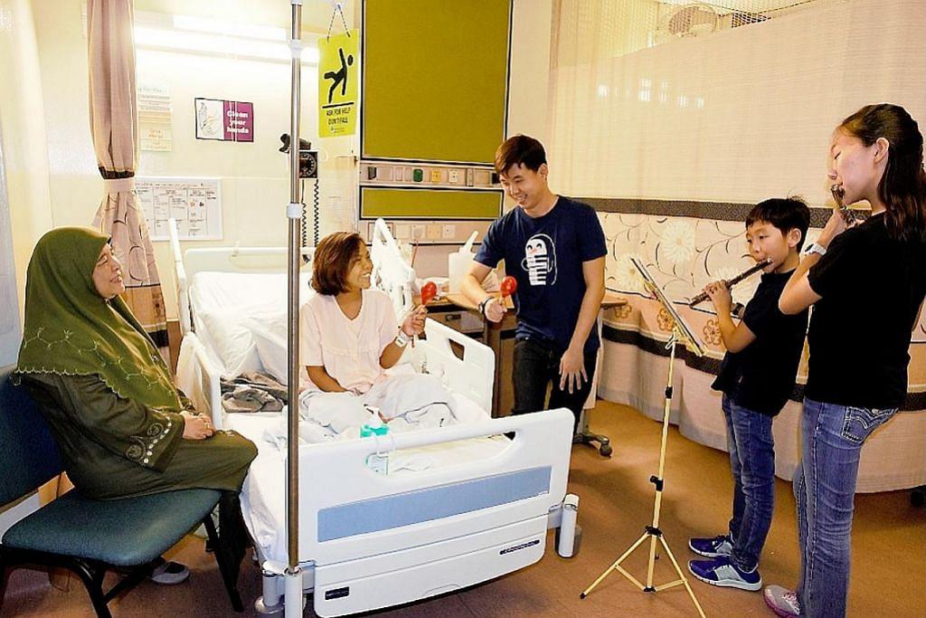 Pesakit di SGH dihibur dengan muzik