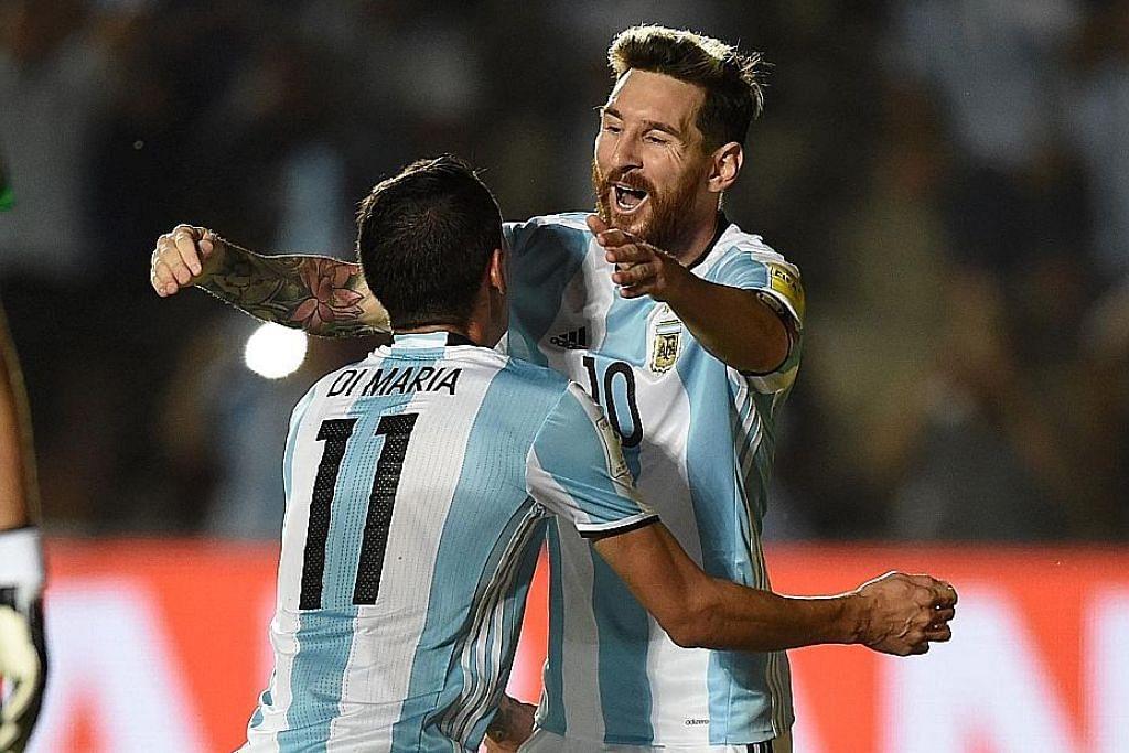 Messi hidupkan semula harapan Argentina KELAYAKAN PIALA DUNIA 2018 (ZON AMERIKA SELATAN)