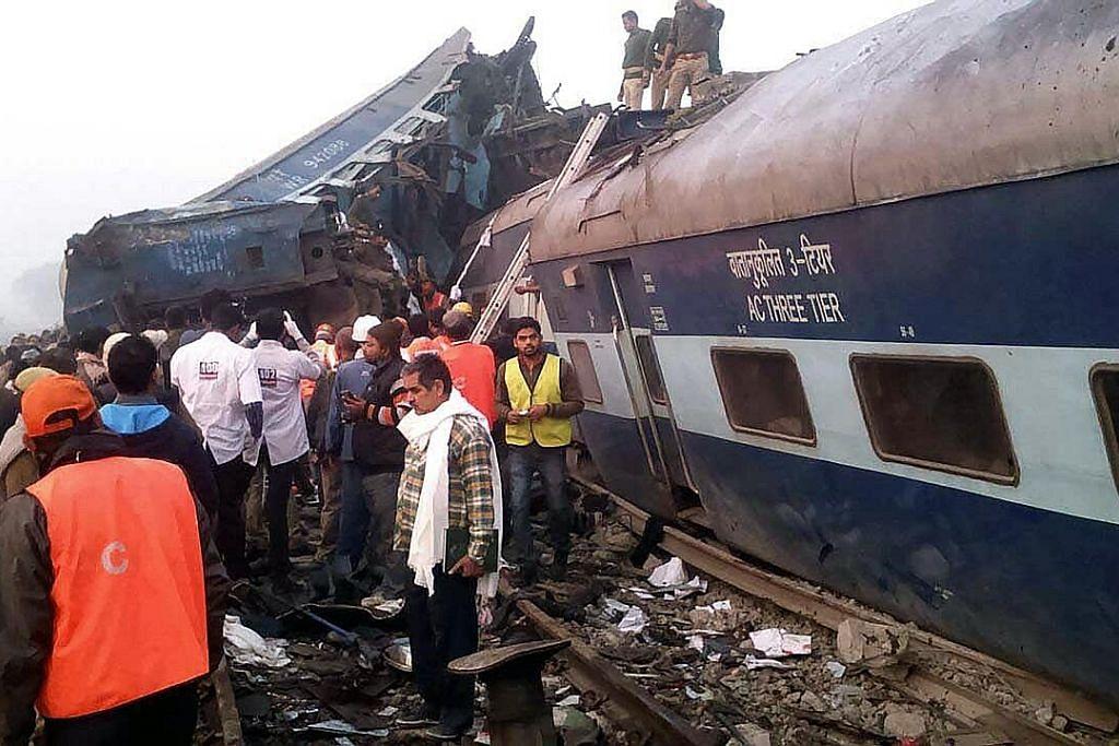 Lebih 100 maut dan ratusan lagi cedera selepas kereta api tergelincir di India