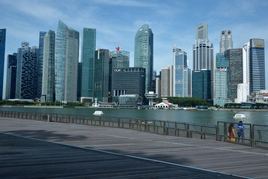 Pusat Kewangan Marina Bay Singapura.