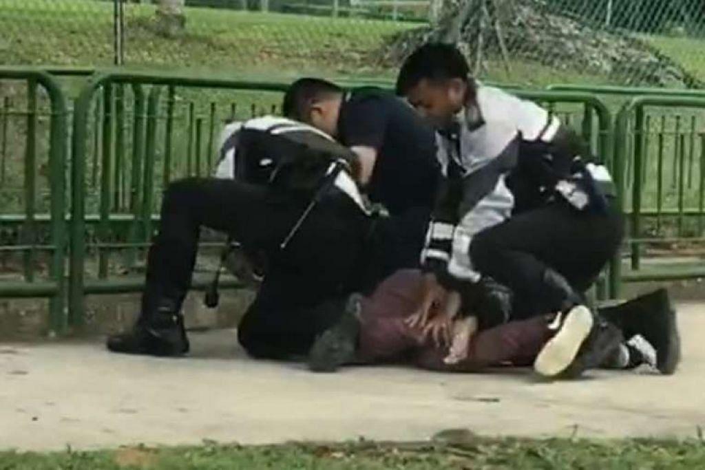 Lelaki yang didakwa melanggar belakang sebuah lori di Woodlands pada Isnin (9 Jan) dan kemudian menumbuk seorang pegawai polis dapat ditangkap selepas dia cuba melarikan diri.